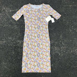 Lularoe Julia Size 2XS Dress Graffiti Multi-Color